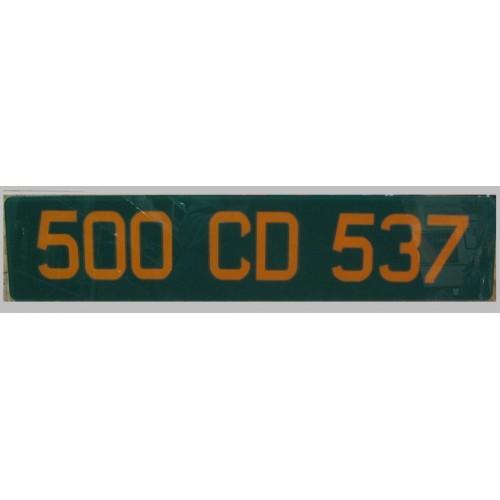 Plaque Diplomatique Vert / Orange